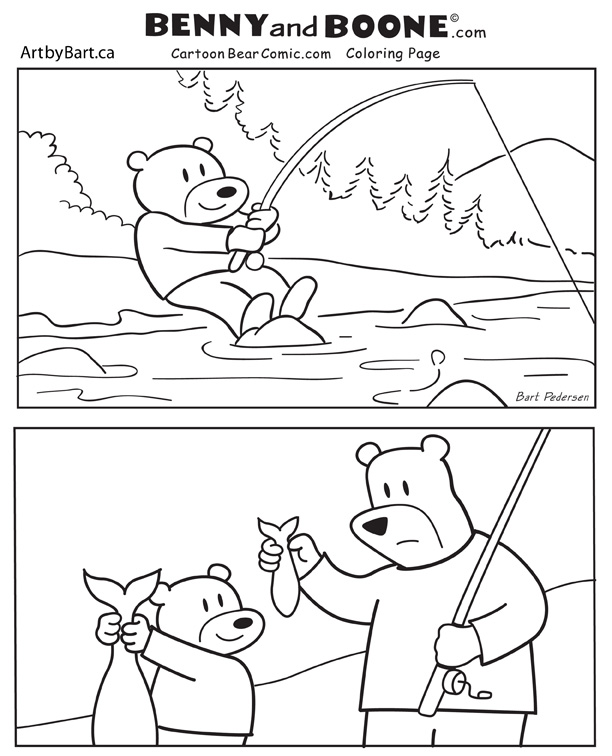 Benny and Boone Activity coloring pages