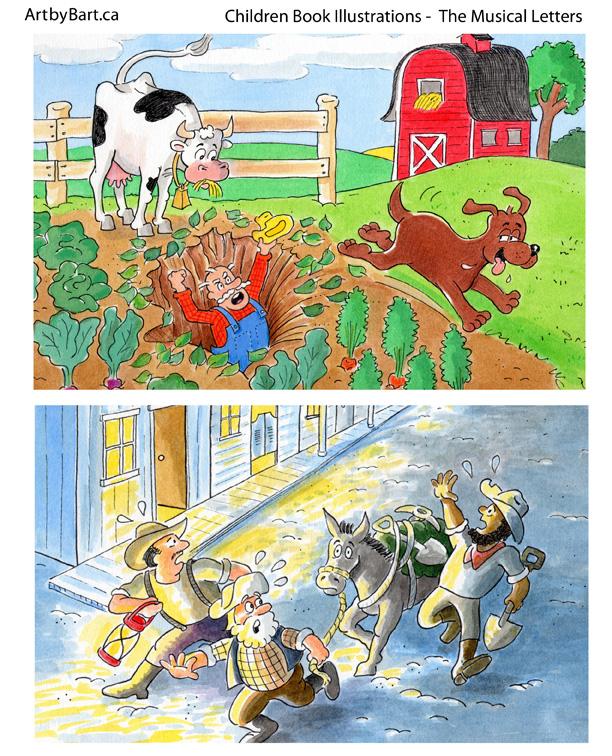 Children Book Art by Barton Pedersen