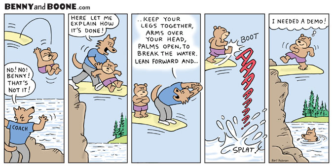 How to dive comic strip