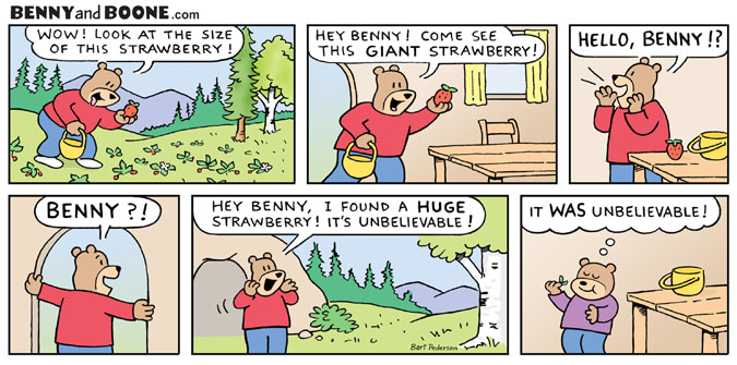 Benny and Boone Bear Comic strip