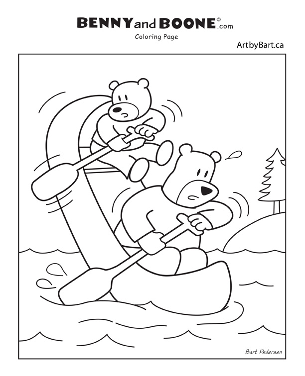 Benny and Boone colouring coloring pages